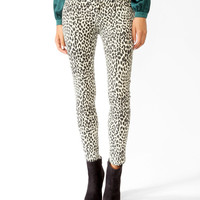 Safari Print Denim Skinnies