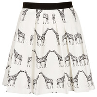 Kissing Giraffe Pleated Skirt - Skirts - Clothing - Topshop USA