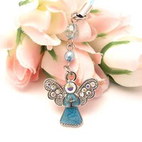 Personalize phones w/ a cute Angel cell phone charms - Baby Blue & get it now!