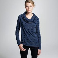 Women&#x27;s new arrivals - sweaters - Merino studded cowlneck sweater - J.Crew