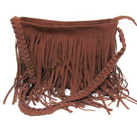 Fashion Tassel Celebrity Shoulder Messenger Cross Body Bag