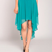 Jellyfish Skirt in Teal