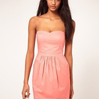 ASOS | ASOS Strapless Dress With Bell Skirt at ASOS