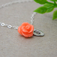 Flowe Initial Necklace 
