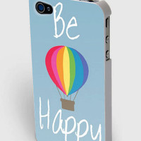 Be Happy Inspirational Hot Air Balloon iPhone4/4s/5 Case