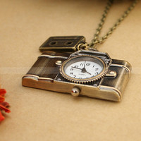 Camera Pocket Watch Necklace