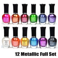 KLEANCOLOR METALLIC COLLETION 12 PCS FULL SET - NAIL POLISH LACQUER