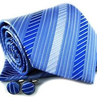 Matching Silk Neck Tie Kerchief and Cuff Links | Treasure_Quest - Accessories on ArtFire