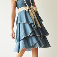 Waft Blue Cocktail Dress by aftershowershop on Etsy