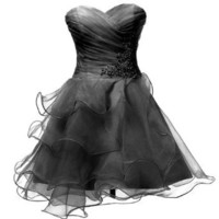 Amazon.com: Dresstells Sweetheart Organza Short Prom Girls Party Sweet 16 Cocktail Dress: Clothing