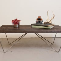Coffee Table Reclaimed Wood Salvaged from the by dylangrey on Etsy