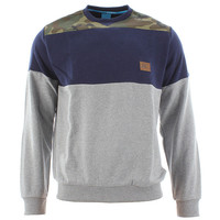 King Apparel Militia Crewneck Sweatshirt - Grey/camo/navy at Urban Industry