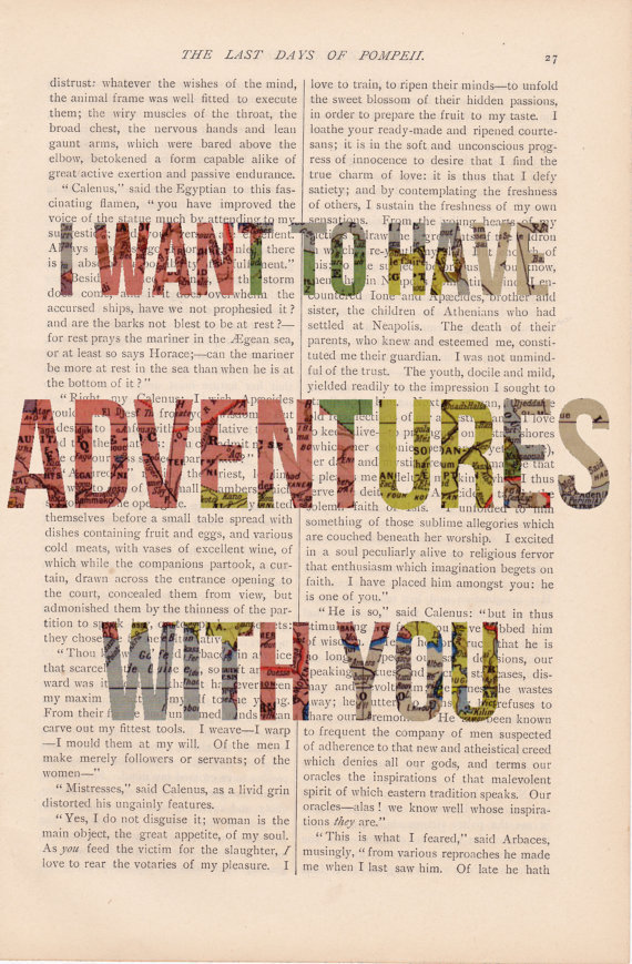 love quote dictionary art I Want to Have by ExLibrisJournals