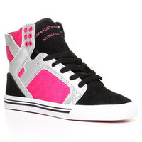 DJPremium.com - Women - Shop by Department - Shoes - Skytop Black Suede/Silver Leather Sneakers