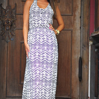 Mine All Mine Maxi Dress: Black/White | Hope's