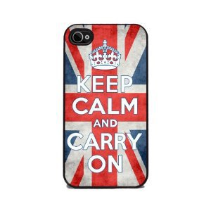 Keep Calm and Carry On - Union Jack Flag iPhone Cover