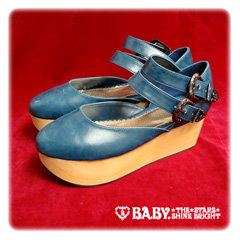 Antique Wooden Sole Shoes - BABY,THE STARS SHINE BRIGHT