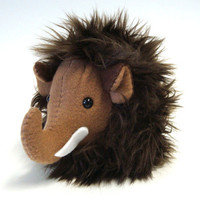 Plush Mini Mammoth Prehistoric Stuffed Animal by mintconspiracy
