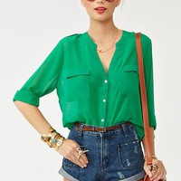 Kelly Chiffon Blouse in What's New at Nasty Gal
