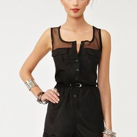 Mad Mesh Romper in What's New at Nasty Gal