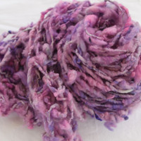 Hand Knit Bulky Shawl Scarf combo in Purple Lavender by bpenatzer