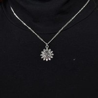 90s Sun Necklace - Silver from Nereus London