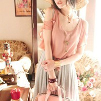 2013 Korean Fashion Women One-Piece Pinafore Dress T-Shirt #1137 Sleeveless TOPS