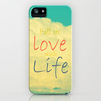 Fall in Love with Life iPhone & iPod Case by RDelean