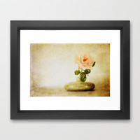 Vintage Rose © Framed Art Print by JUSTART