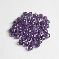 Amethyst Rondelle Glass Bead 3mm