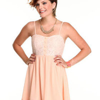 DJPremium.com - Women - Shop by Department - Sale - Dresses - Lace Dress with chiffon