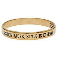 Ettika The Fashion Fades Style Is Eternal Bangle in Gold : Karmaloop.com - Global Concrete Culture