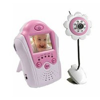 2.4ghz Wireless Camera Voice Control Baby Monitor Pink
