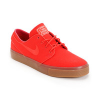 Nike SB Zoom Stefan Janoski Hyper Red Sail Canvas Shoe at Zumiez : PDP