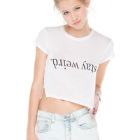 Brandy ♥ Melville |  Carolina Stay Weird Top - Graphics