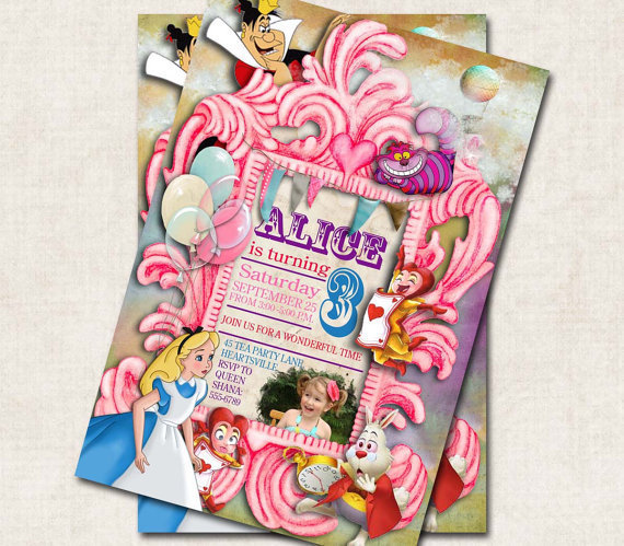Alice in Wonderland Birthday Party by missbellaexpressions on Etsy
