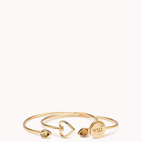 Heart Me Open Cuff Set | FOREVER 21 - 1077915800