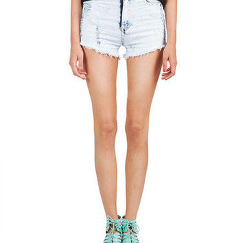 Washed Out Pocket Flap Shorts | 2020AVE