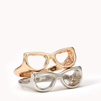Cutout Glasses Ring Set