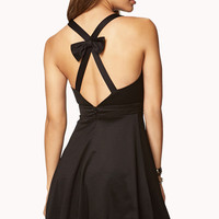 Crisscross Back Bow Dress
