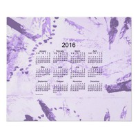 Old Purple Paint 2016 Wall Calendar Print from Zazzle.com