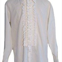 After Six White Tux Vintage 1970s Shirt