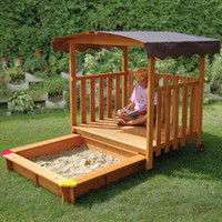The Hidden Sandbox Playhouse - Hammacher Schlemmer