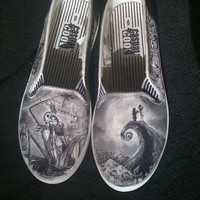Nightmare Before Christmas Custom Made Shoes