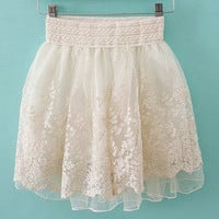 Latest Retro Princess Lace Bubble Skirt