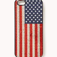 Rhinestoned American Flag Phone Case