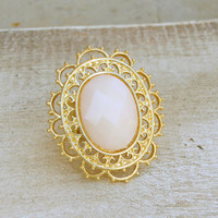 Golden Filigree Ring [3985] - $12.00 : Vintage Inspired Clothing & Affordable Summer Frocks, deloom | Modern. Vintage. Crafted.