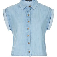 Petite Short Sleeve Crop Shirt - New In This Week - New In - Topshop USA