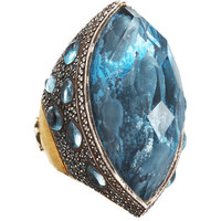 Sevan Bicakci Dolphin Carved Blue Topaz Ring at Barneys New York at Barneys.com