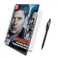 Supernatural Notebook Journal UpCycled Sam and Dean Winchester by PopCulturePlanners on Zibbet